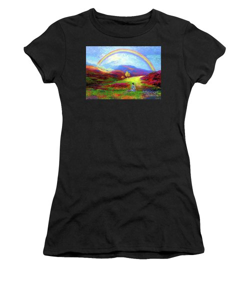 Buddha Chakra Rainbow Meditation Women's T-Shirt (Athletic Fit)