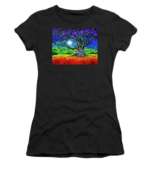 Buddha Healing The Earth Women's T-Shirt (Athletic Fit)