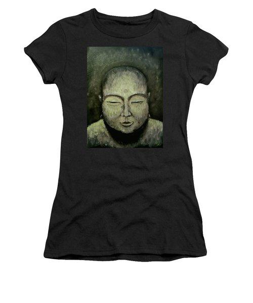 Buddha In Green Women's T-Shirt