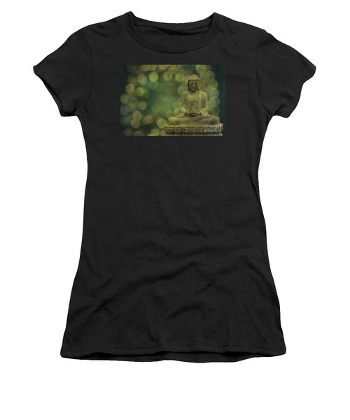 Buddha Light Gold Women's T-Shirt (Athletic Fit)