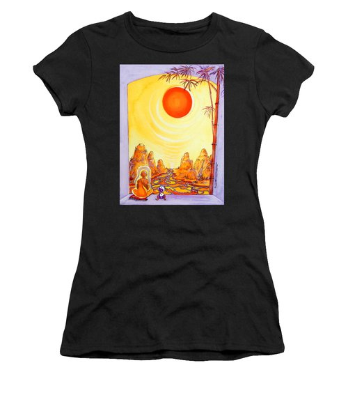 Buddha Meditation Women's T-Shirt (Athletic Fit)