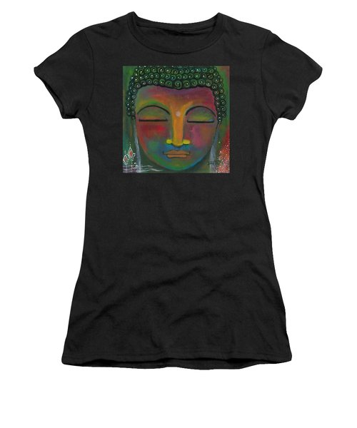 Buddha Painting Women's T-Shirt (Athletic Fit)