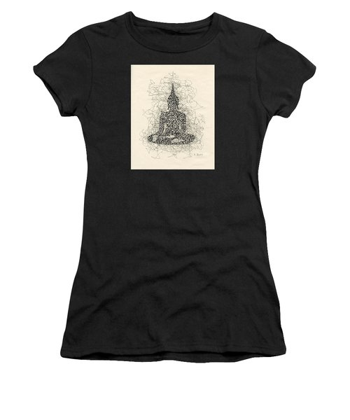 Buddha Pen And Ink Drawing Women's T-Shirt