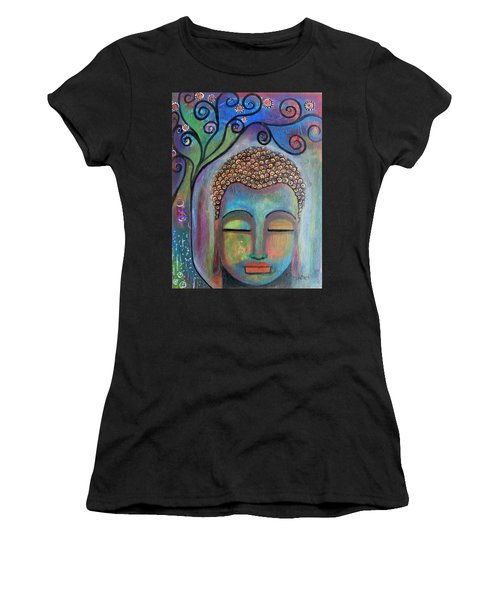 Buddha With Tree Of Life Women's T-Shirt (Athletic Fit)