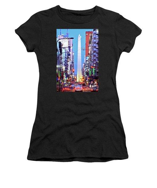 Buenos Aires Obelisk Women's T-Shirt (Athletic Fit)