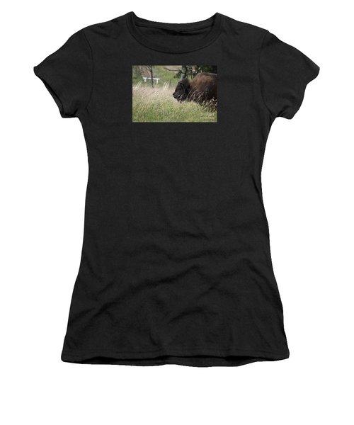 Buffalo Gal 20120724_378a Women's T-Shirt (Junior Cut) by Tina Hopkins