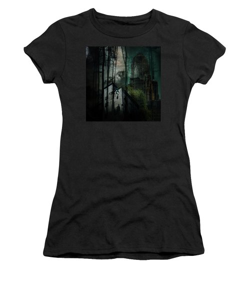 Women's T-Shirt featuring the digital art Buffalo Shadows by Richard Ricci