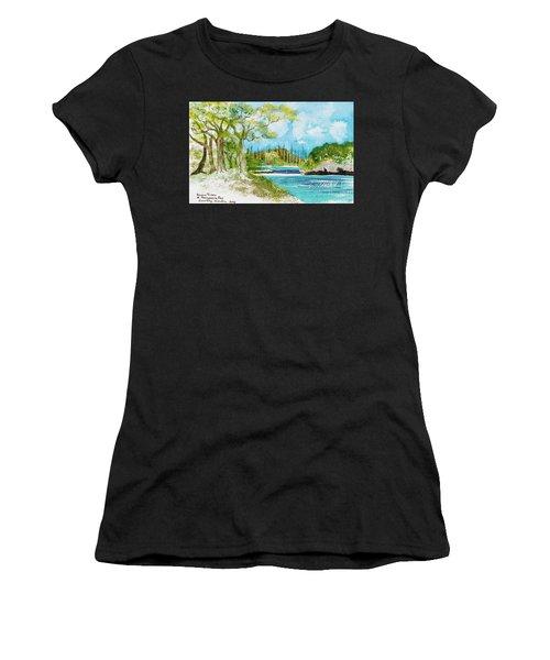 Bugny Trees At Kanumera Bay, Ile Des Pins Women's T-Shirt