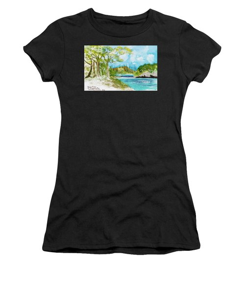 Bugny Trees At Kanumera Bay, Ile Des Pins Women's T-Shirt (Athletic Fit)