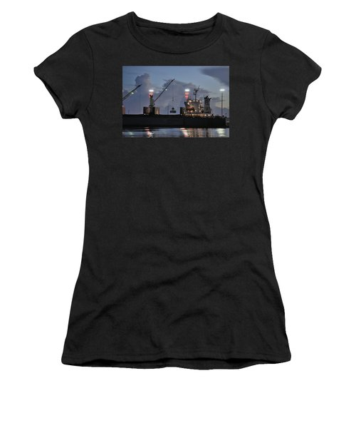 Bulk Cargo Carrier Loading At Dusk Women's T-Shirt