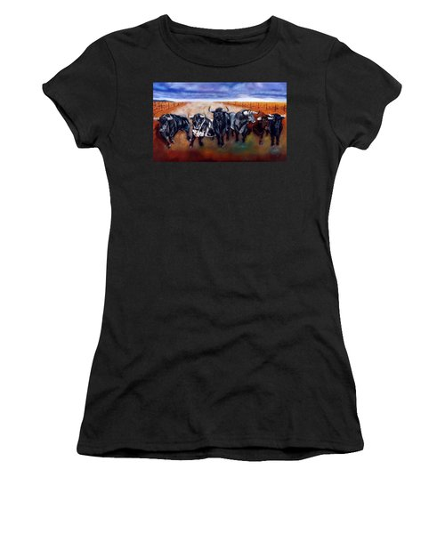 Bull Stampede Women's T-Shirt (Athletic Fit)