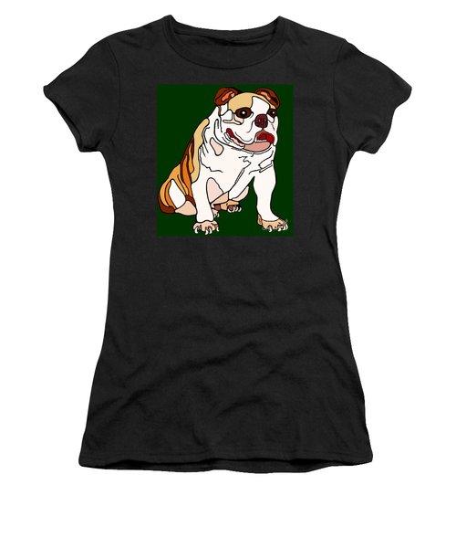 Bulldog Women's T-Shirt (Athletic Fit)