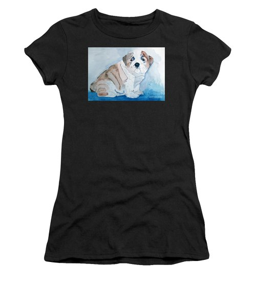 Bulldog Puppy Women's T-Shirt