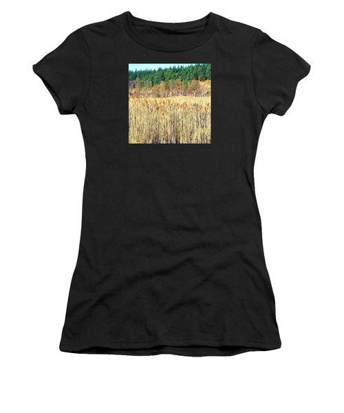 Bullrushes In Late November Women's T-Shirt (Athletic Fit)