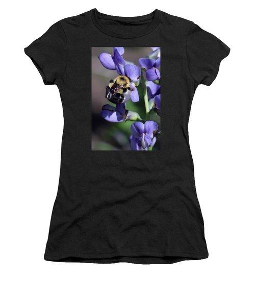 Bumble Bee, Blue Indigo Women's T-Shirt