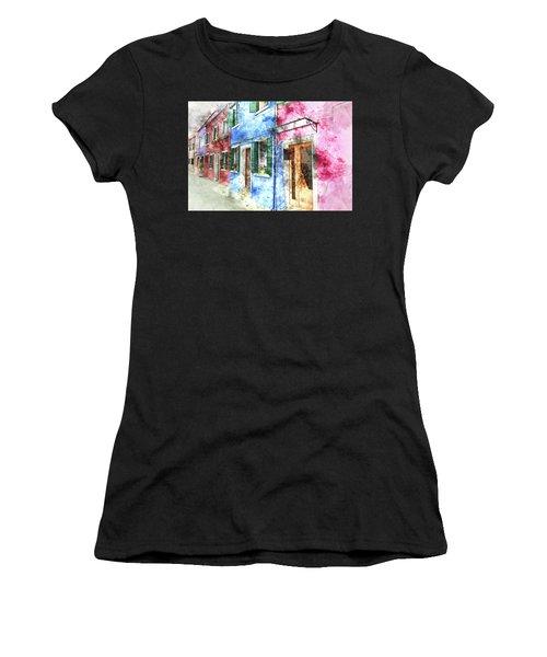 Burano Italy Buildings Women's T-Shirt