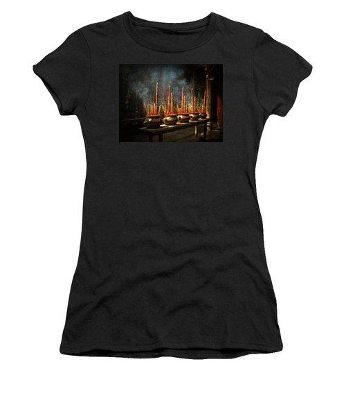 Burning Incense Women's T-Shirt