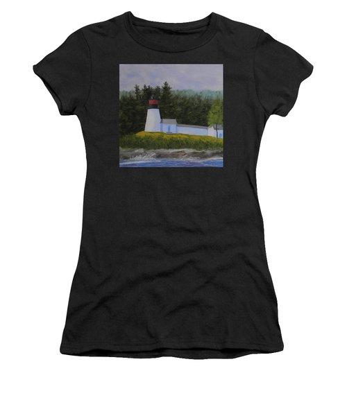 Burnt Island Light Women's T-Shirt (Athletic Fit)