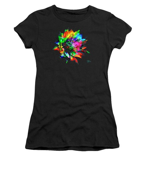 Women's T-Shirt featuring the mixed media Burst Of Color by David Millenheft