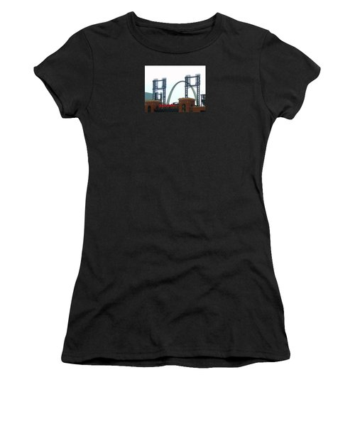 Busch Stadium With Arch Women's T-Shirt (Athletic Fit)