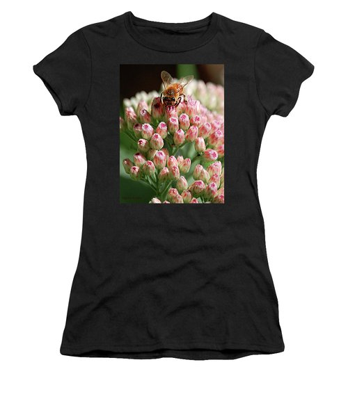 Busy Bee Women's T-Shirt (Junior Cut) by DigiArt Diaries by Vicky B Fuller