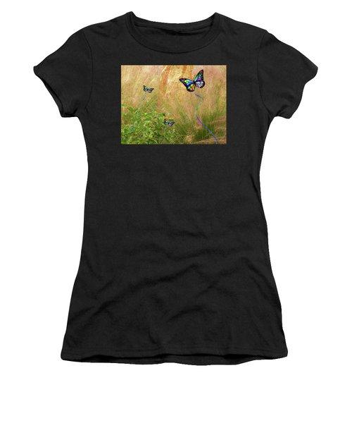 Buterflies Dream Women's T-Shirt (Athletic Fit)