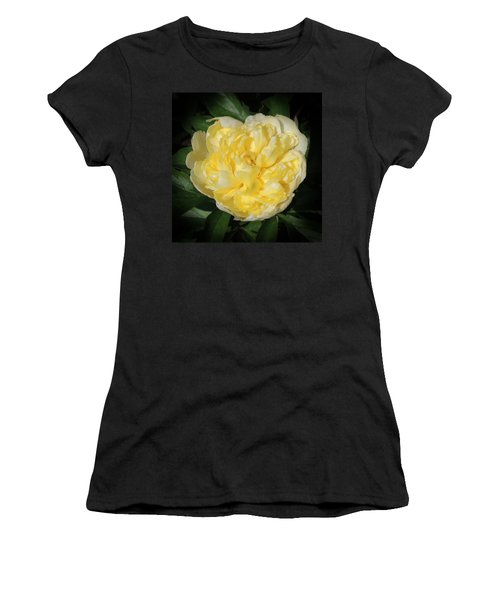 Buttercream Peony Women's T-Shirt (Athletic Fit)