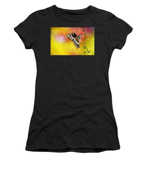 Butterflies Are Self Propelled Flowers Women's T-Shirt