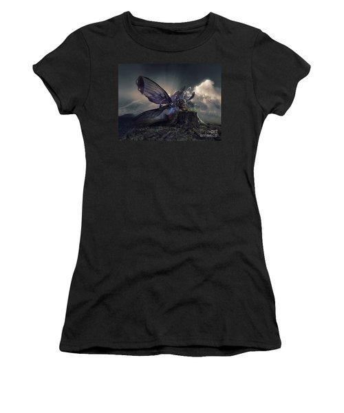 Butterfly And Caterpillar Women's T-Shirt