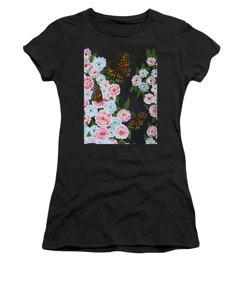Butterfly Beauty Women's T-Shirt (Junior Cut) by Teresa Wing