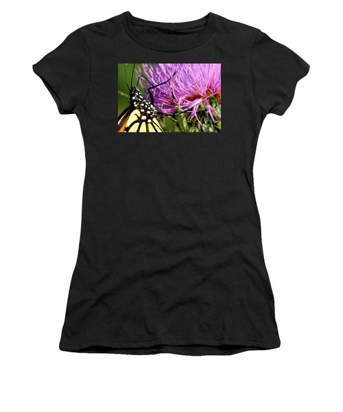 Butterfly On Bull Thistle Women's T-Shirt