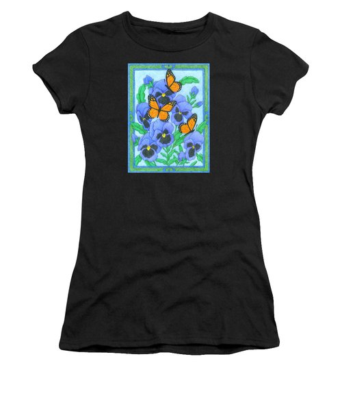 Butterfly Idyll-pansies Women's T-Shirt (Athletic Fit)