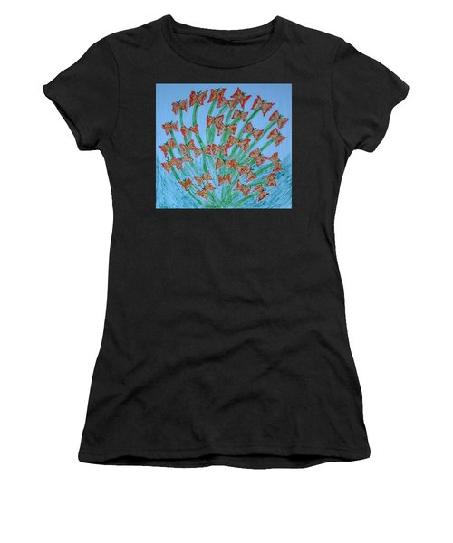Butterfly Motion Women's T-Shirt (Athletic Fit)
