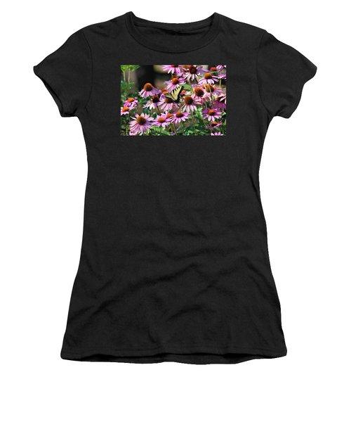 Butterfly On Coneflowers Women's T-Shirt
