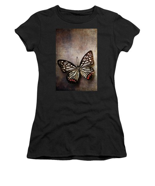 Butterfly Over Textured Background Women's T-Shirt