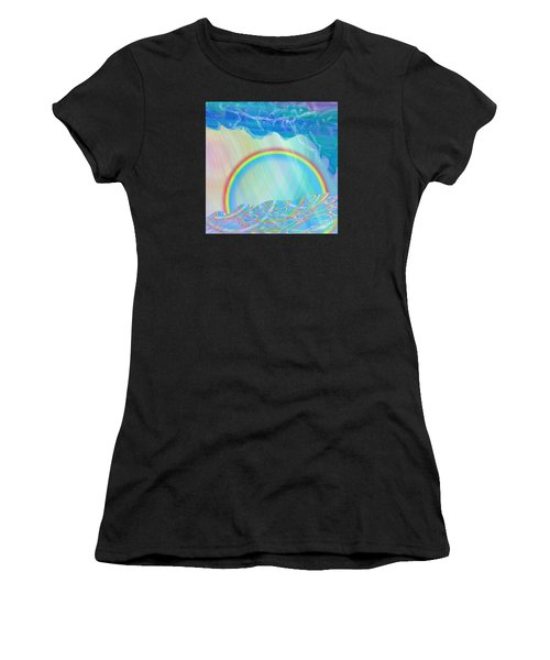 By Day And By Rain Women's T-Shirt (Athletic Fit)