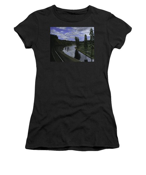 By Rail Women's T-Shirt (Athletic Fit)