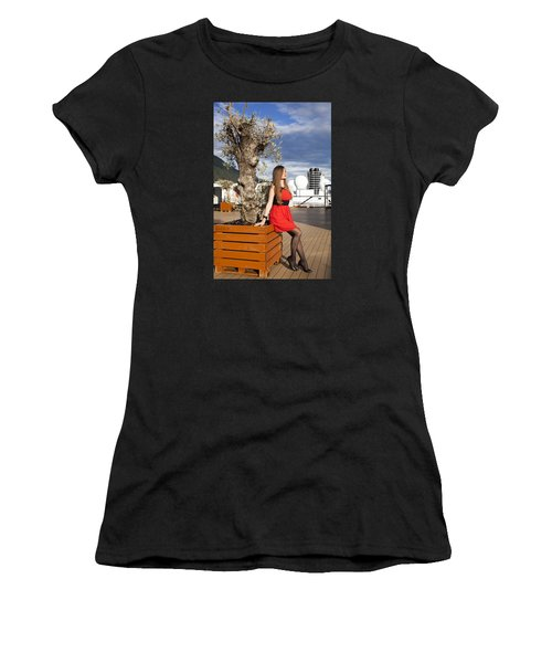 By The Tree Of Temptation Women's T-Shirt (Athletic Fit)