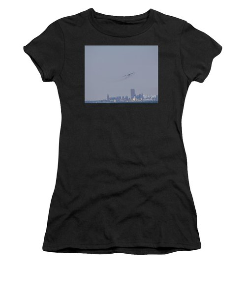 C130 Over Buffalo Women's T-Shirt (Athletic Fit)