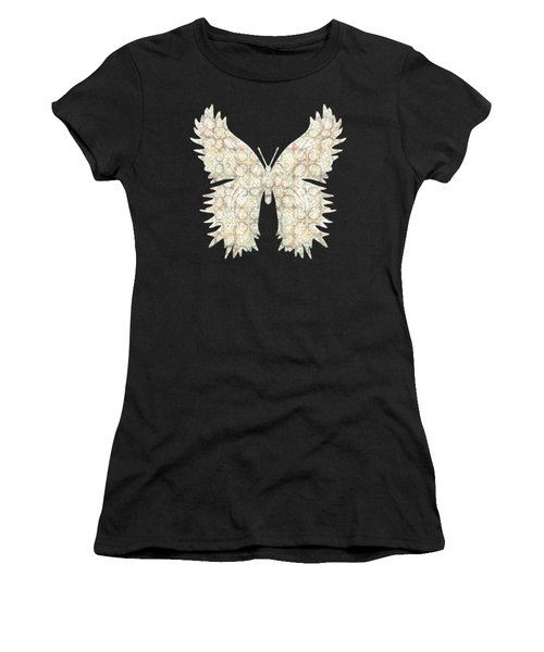 Cabbage Crackle White Women's T-Shirt (Athletic Fit)