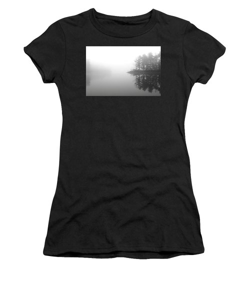 Cabin In The Foggy Woods Women's T-Shirt