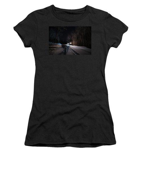 Cabin In The Winter Women's T-Shirt