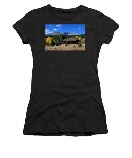 Cabin With A View Of Long's Peak Women's T-Shirt