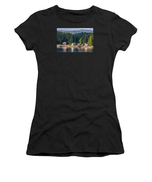 Cabins On The Water Women's T-Shirt (Athletic Fit)