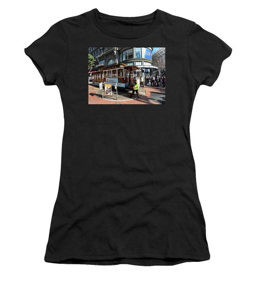 Cable Car Union Square Stop Women's T-Shirt (Athletic Fit)