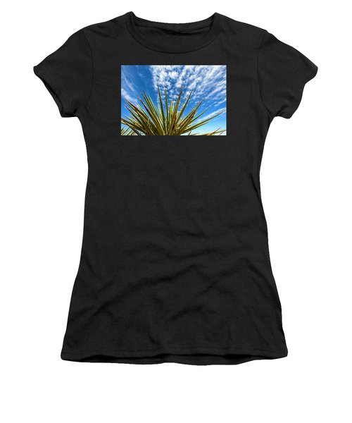 Cactus And Blue Sky Women's T-Shirt (Athletic Fit)