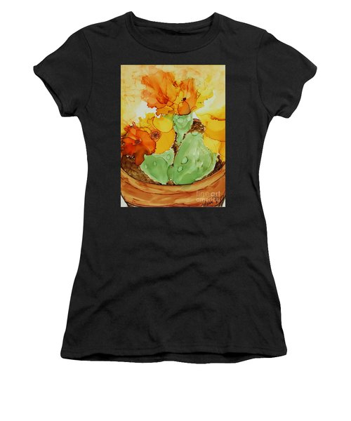 Cactus In A Pot Women's T-Shirt (Athletic Fit)