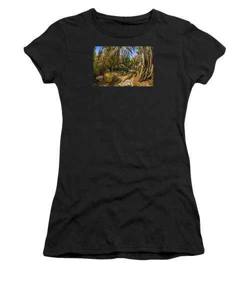 Cactus Path Women's T-Shirt (Athletic Fit)
