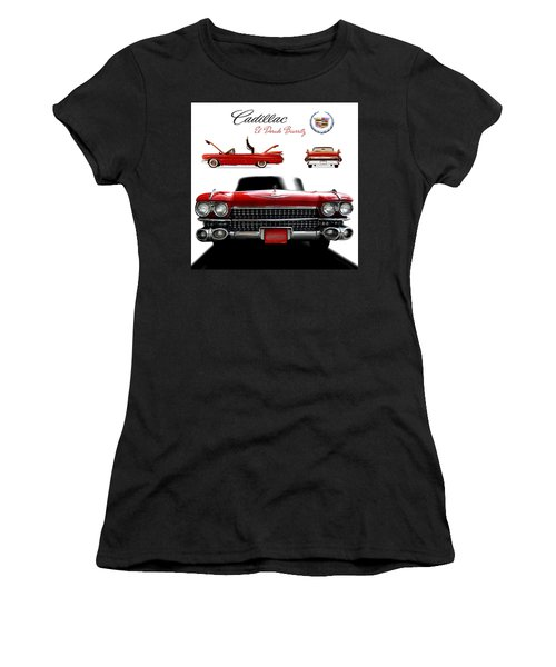 Women's T-Shirt (Junior Cut) featuring the photograph Cadillac 1959 by Gina Dsgn