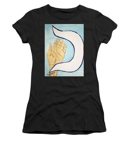 Caf Palm Women's T-Shirt (Athletic Fit)
